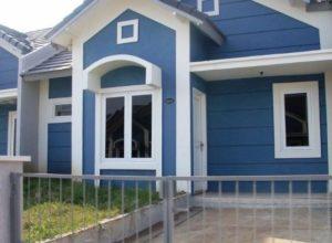 Model Rumah Minimalis Sederhana Warna Biru