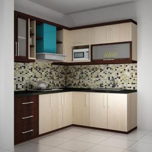 desain kitchen set untuk dapur kecil pic