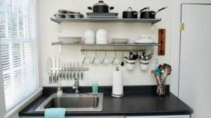 desain dapur kecil tanpa kitchen set contoh