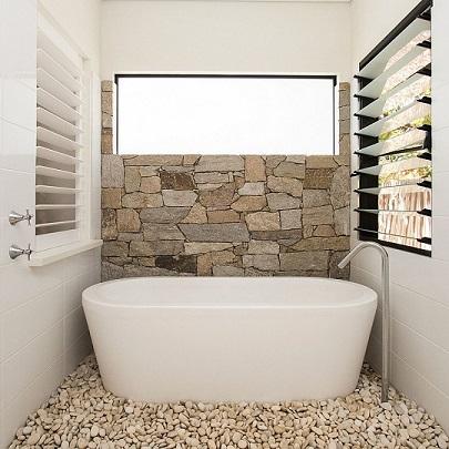 kelebihan kamar mandi minimalis batu alam